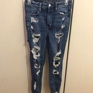 AE blue ripped jeans